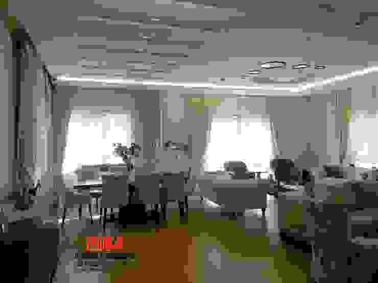 Dr. Olgun Karazincir Villası Modern Oturma Odası Hiba iç mimarik Modern