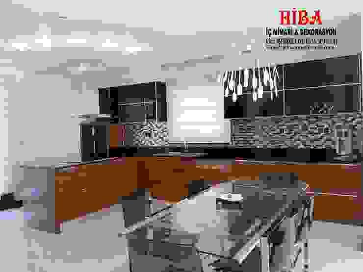 Hiba iç mimarik – Dr. Mustafa Ödemiş Villası:  tarz Mutfak