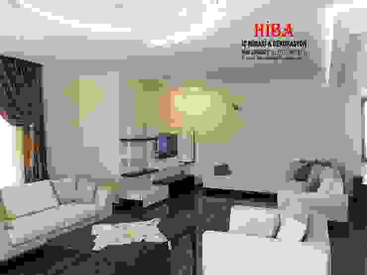 Dr. Mustafa Ödemiş Villası Modern Oturma Odası Hiba iç mimarik Modern