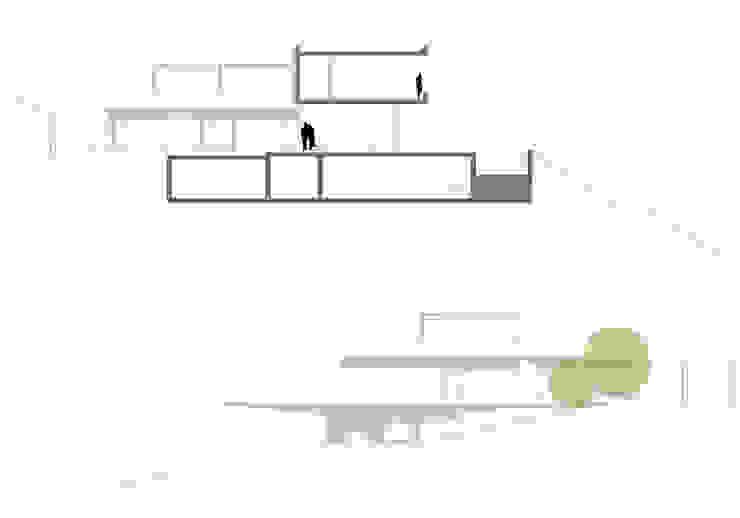 vivienda_unifamiliar_monasterios_plano_secciones_1 de aguilar avila studio Moderno