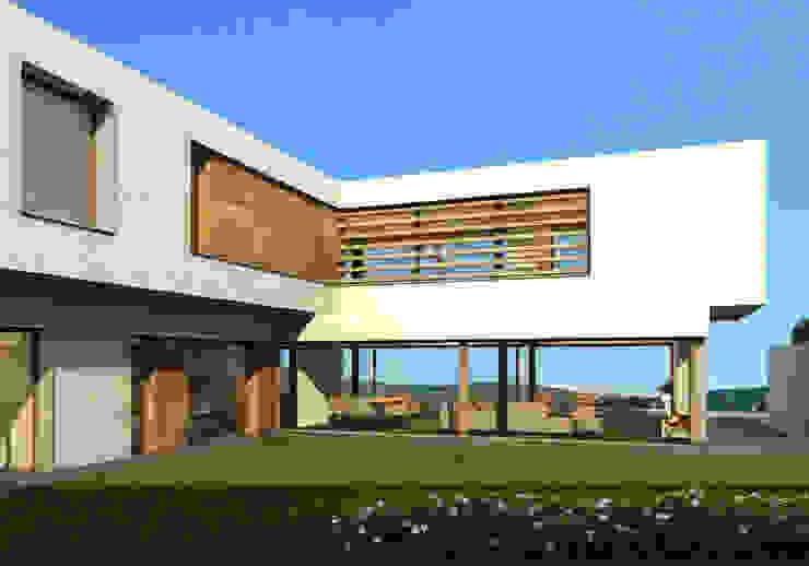 vivienda_unifamiliar_monasterios_3d_2 Casas de estilo moderno de aguilar avila studio Moderno
