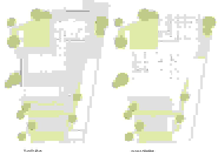vivienda_unifamiliar_monasterios_plano_plantas_1 de aguilar avila studio Moderno