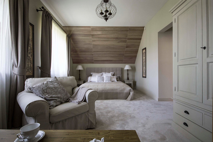 Dom w Polanicy Klasyczna sypialnia od ASA Autorskie Studio Architektury Klasyczny