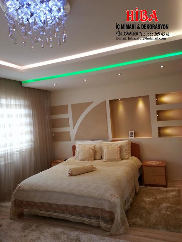 Semih Toplu Evi Modern Yatak Odası Hiba iç mimarik Modern