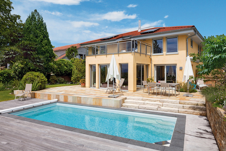 Casas mediterrâneas por Haacke Haus GmbH Co. KG Mediterrâneo