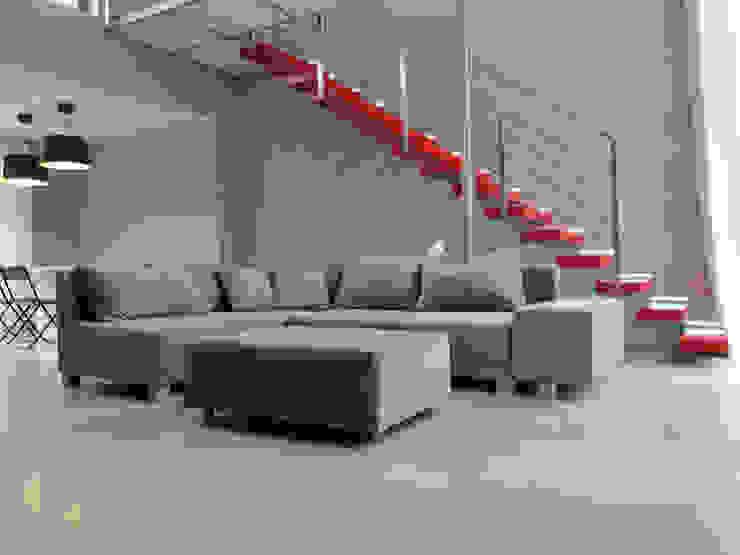 1: styl , w kategorii Salon zaprojektowany przez Projekt Kolektyw Sp. z o.o.,Minimalistyczny