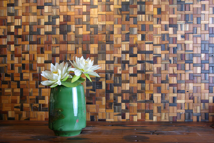 Reclaimed Ship Wood Used Worldwide ShellShock Designs Asian style walls & floors Wood