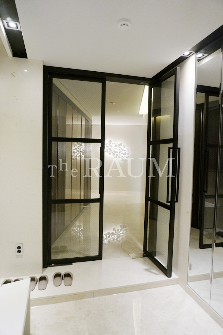 Pasillos, vestíbulos y escaleras de estilo moderno de (주)이지테크(EASYTECH Inc.) Moderno