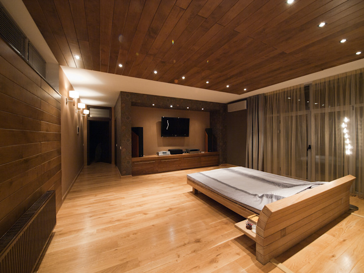 T residence Спальня в стиле минимализм от Didenkül+Partners Минимализм