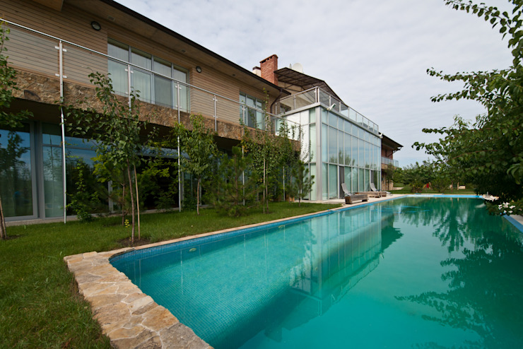 T residence Бассейны в эклектичном стиле от Didenkül+Partners Эклектичный