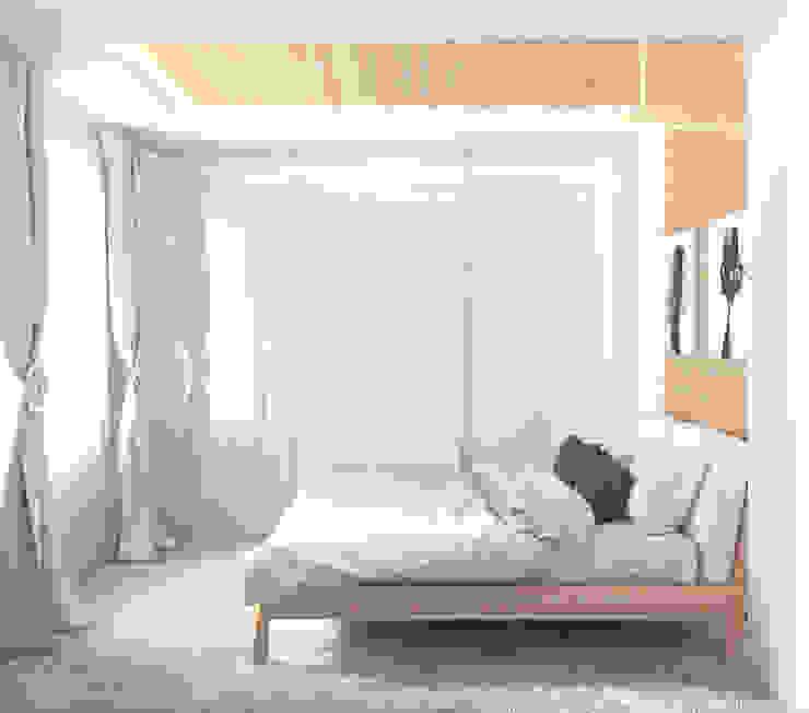 Квартира в Алексине Спальня в эклектичном стиле от Ин-дизайн Эклектичный