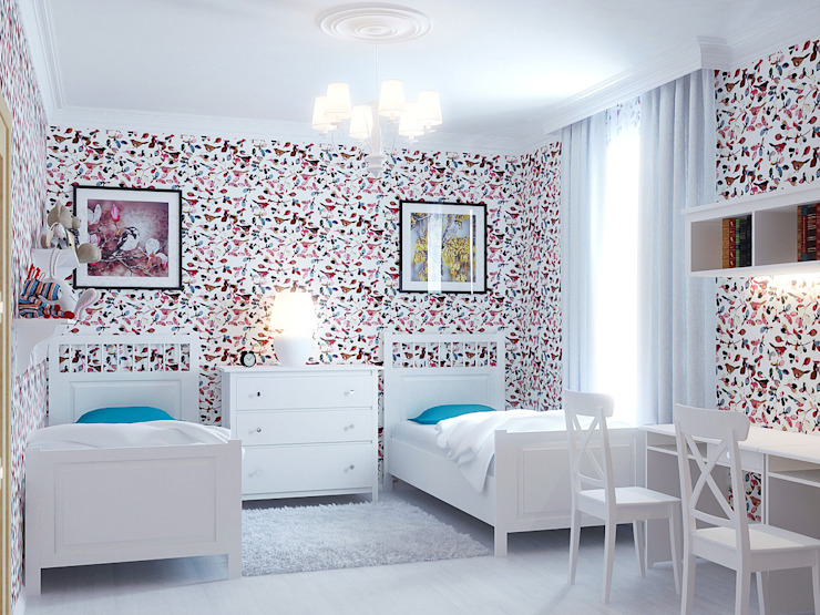 Квартира в Алексине Детские комната в эклектичном стиле от Ин-дизайн Эклектичный