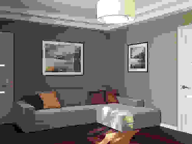 Квартира в Алексине Гостиные в эклектичном стиле от Ин-дизайн Эклектичный