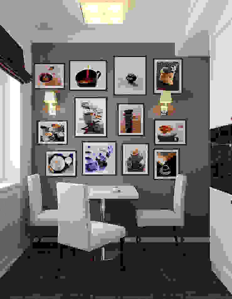 Квартира в Алексине Кухни в эклектичном стиле от Ин-дизайн Эклектичный