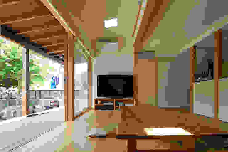 和の中心の家 オリジナルデザインの ダイニング の 田中ナオミアトリエ オリジナル