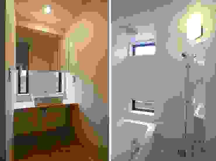 洗面所・浴室 北欧スタイルの お風呂・バスルーム の 家山真建築研究室 Makoto Ieyama Architect Office 北欧