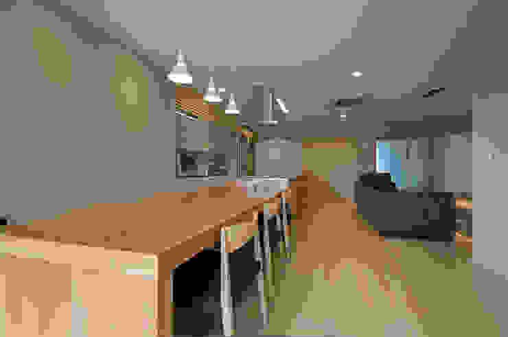 ダイニング モダンデザインの ダイニング の 家山真建築研究室 Makoto Ieyama Architect Office モダン