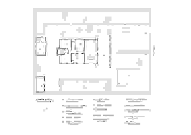 Plano estado actual (después) de LLIBERÓS SALVADOR Arquitectos Rústico