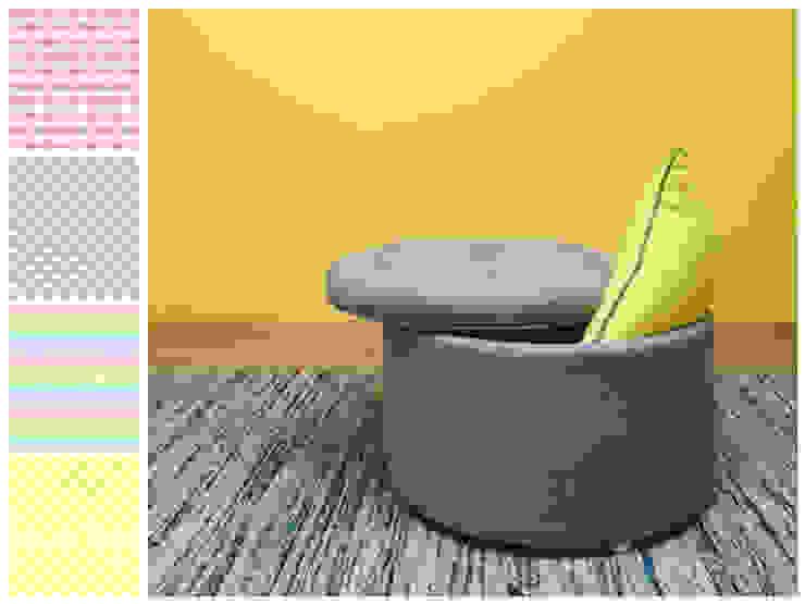 de MARIANGEL COGHLAN Moderno Textil Ámbar/Dorado
