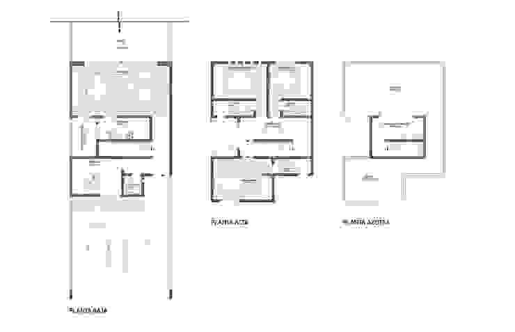 Representación arquitectónica 2D Casas modernas de ODRACIR Moderno