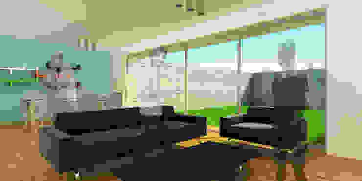 Vista interior sala - comedor espacio abierto. Salones modernos de ODRACIR Moderno