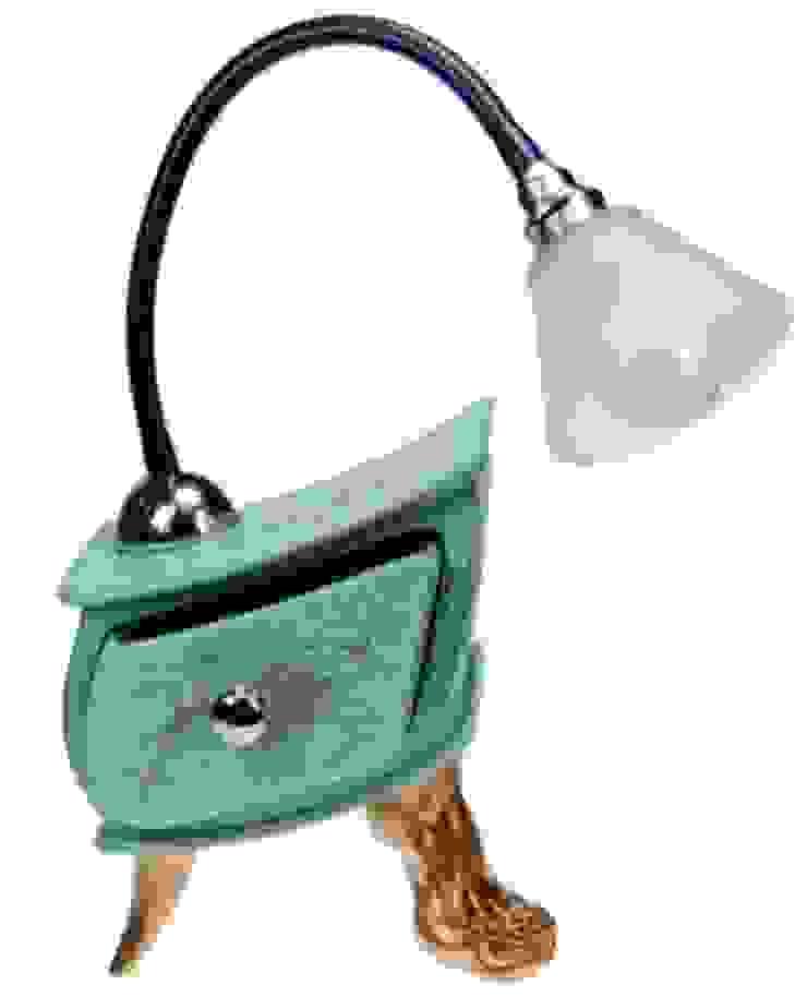 Çekmeceli Masa Lambası / Lamp Slate Vago Minds Ltd. Rustik