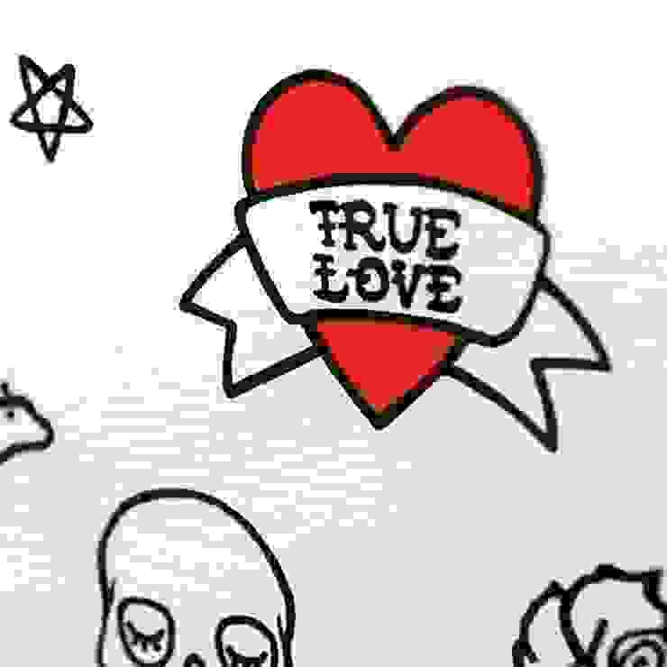 """Drewniana skrzynia na zabawki """"True love"""" od NOBOBOBO Skandynawski"""