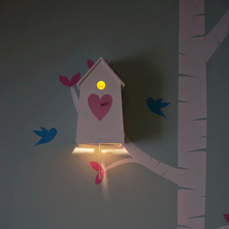 "Birdhouse night lamp ""Love Love"" par NOBOBOBO Minimaliste"