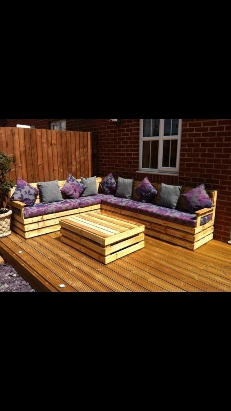 Garden corner unit par Pallet furniture uk Rustique