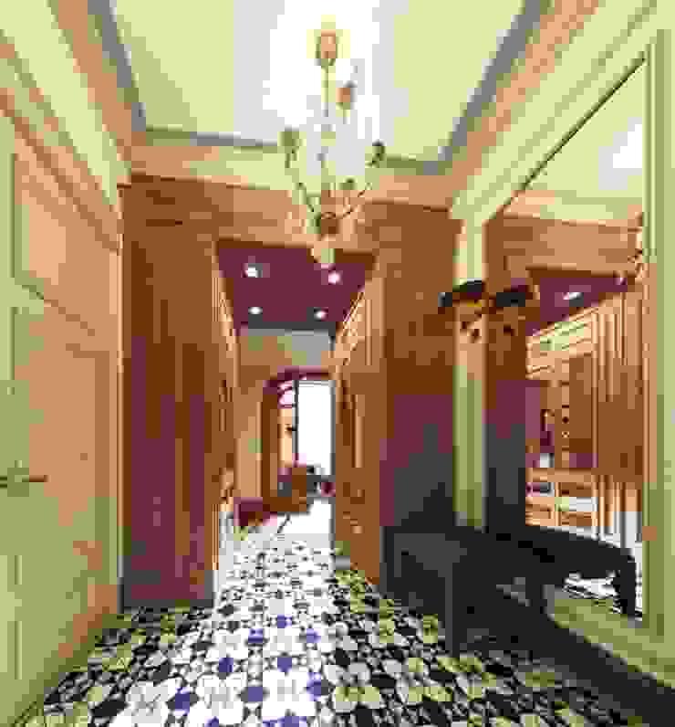 Pasillos, vestíbulos y escaleras de estilo ecléctico de KOSHKA INTERIORS Ecléctico