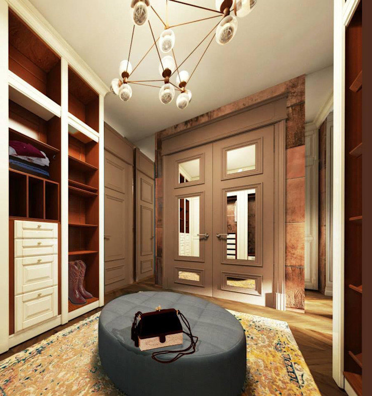 Closets de estilo ecléctico de KOSHKA INTERIORS Ecléctico