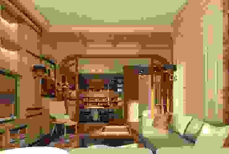 Квартира в ЖК «ЛИТЕРАТОР» Гостиные в эклектичном стиле от KOSHKA INTERIORS Эклектичный