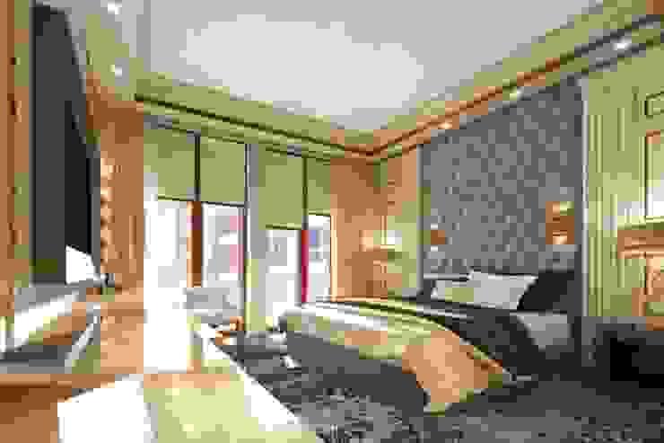 Квартира в ЖК «ЛИТЕРАТОР» Спальня в эклектичном стиле от KOSHKA INTERIORS Эклектичный