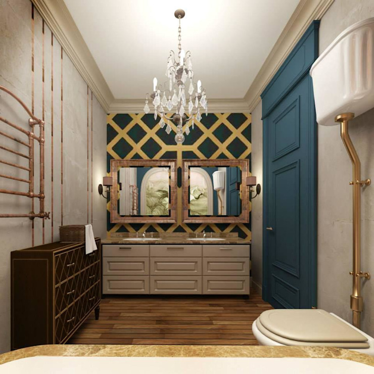 Eclectic style bathroom by KOSHKA INTERIORS Eclectic