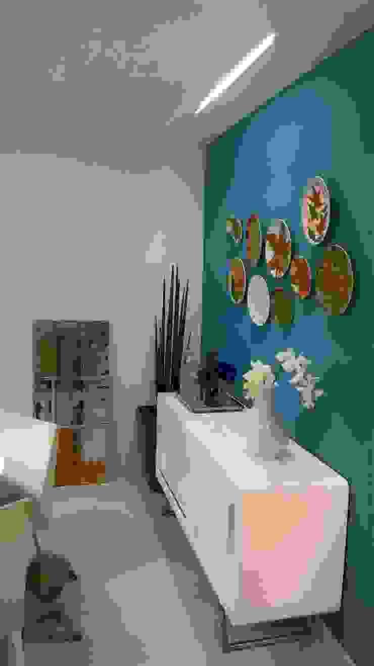 Cores e arte Salas de jantar modernas por Fabio Pantaleão Arquitetura+Interiores Moderno