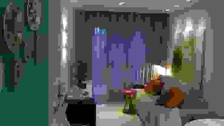 Cores e arte Salas de estar modernas por Fabio Pantaleão Arquitetura+Interiores Moderno