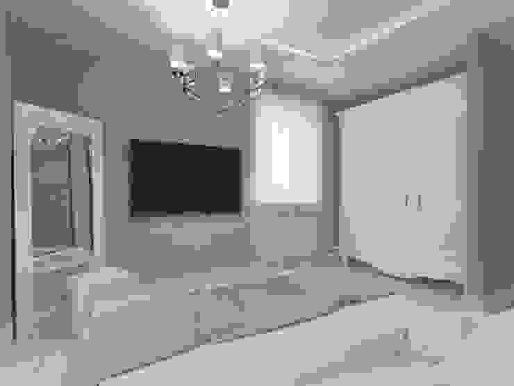 Современная квартира в Тюмени: визуализация Спальня в эклектичном стиле от OK Interior Design Эклектичный