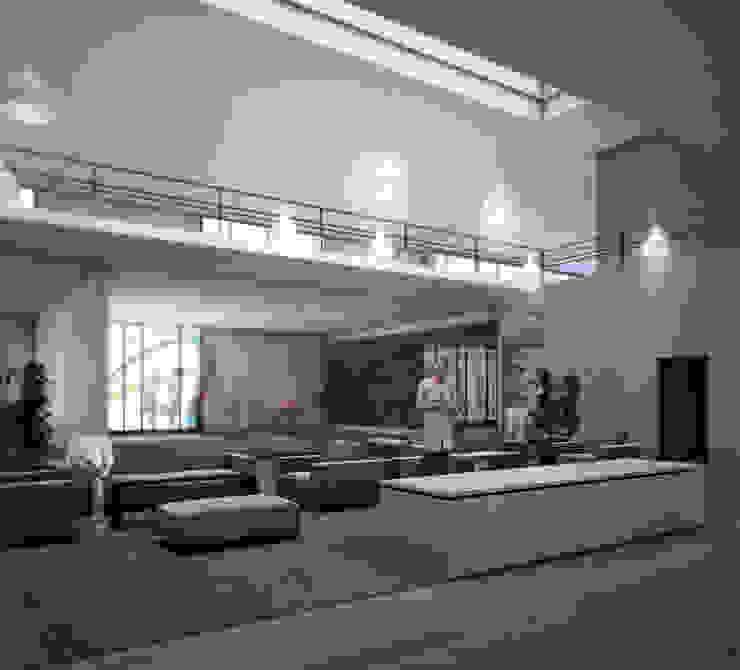 ANV LEÓN FACHADA Gimnasios domésticos modernos de gOO Arquitectos Moderno