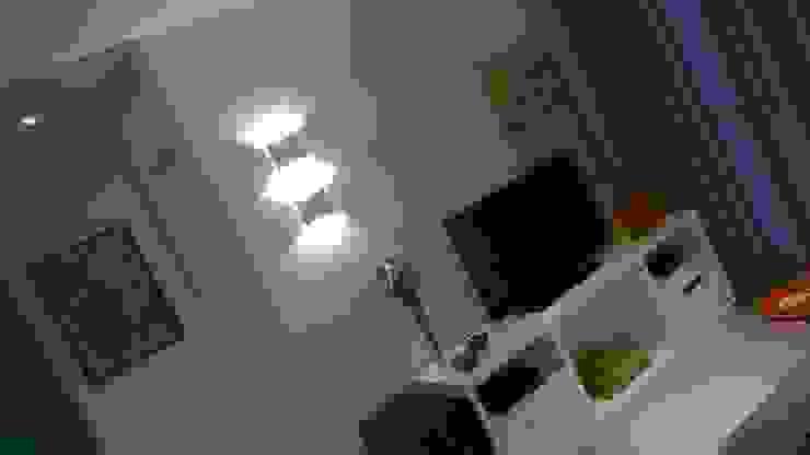Apartamento Jardim Camburi Salas de estar modernas por Fabio Pantaleão Arquitetura+Interiores Moderno