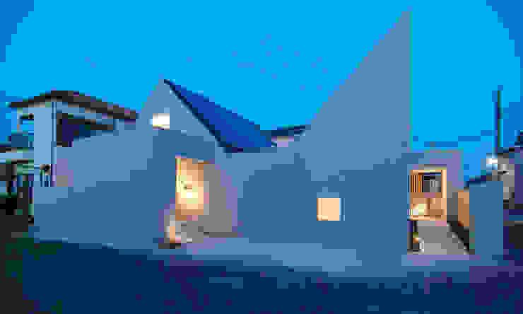 夕景 ミニマルな 家 の 星設計室 ミニマル