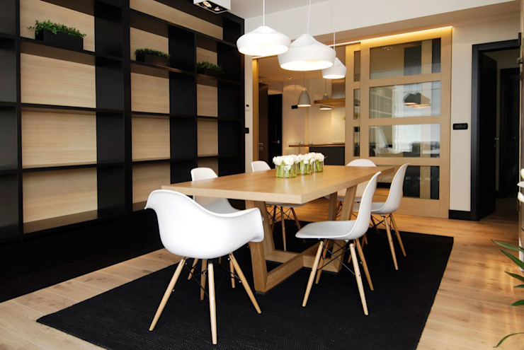 Decoración de casa moderna y actual para familia con niños Comedores de estilo moderno de Sube Susaeta Interiorismo Moderno