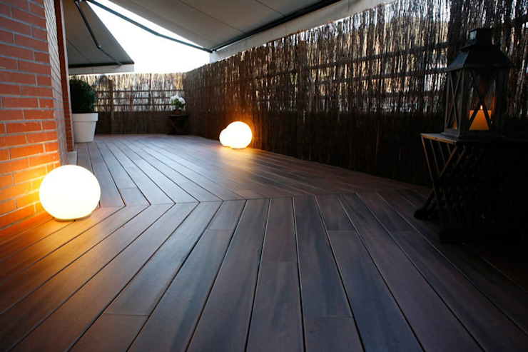 Decoración interior de duplex acogedor, Sube Susaeta Interiorismo - Sube Contract Balcones y terrazas de estilo moderno de Sube Susaeta Interiorismo Moderno Madera Acabado en madera