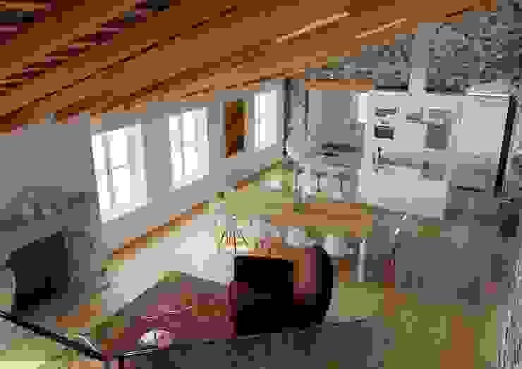 Attico privato M A+D Menzo Architettura+Design Sala da pranzoSedie & Panche