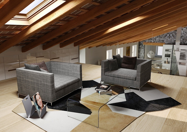 M A+D Menzo Architettura+Design ВітальняДивани та крісла
