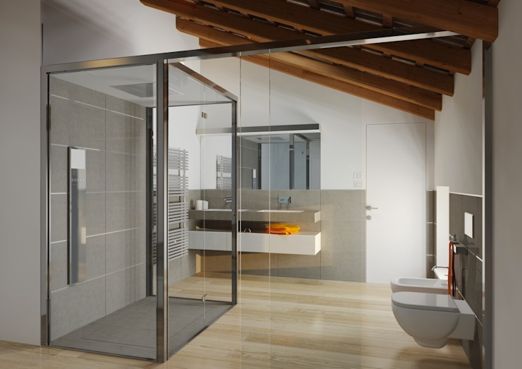 M A+D Menzo Architettura+Design BathroomBathtubs & showers