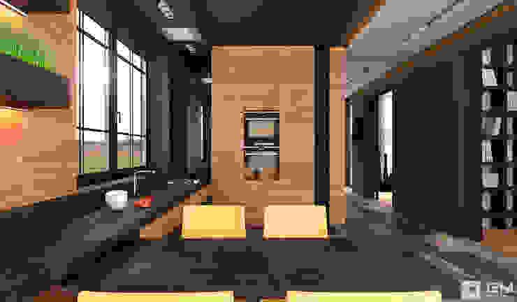 Интерьер дома в современном стиле Кухня в стиле минимализм от GM-interior Минимализм