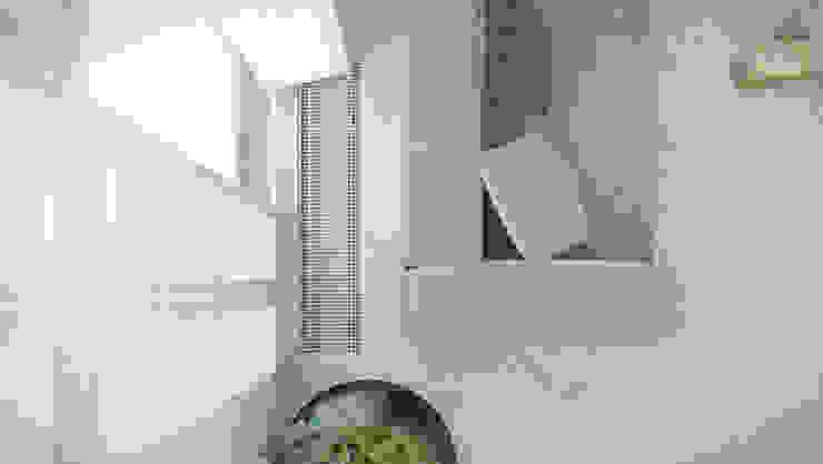 LOFT Z ANTRESOLĄ W LUBLINIE Minimalistyczny salon od Kunkiewicz Architekci Minimalistyczny