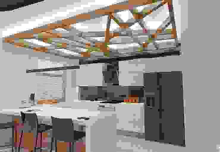 APARTAMENT W LUBLINIE Nowoczesna kuchnia od Kunkiewicz Architekci Nowoczesny