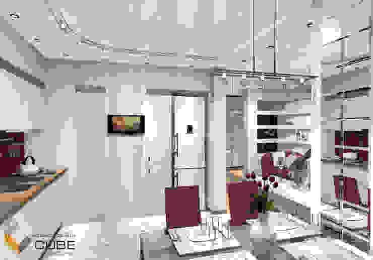 Лаборатория дизайна 'КУБ' Minimalist kitchen