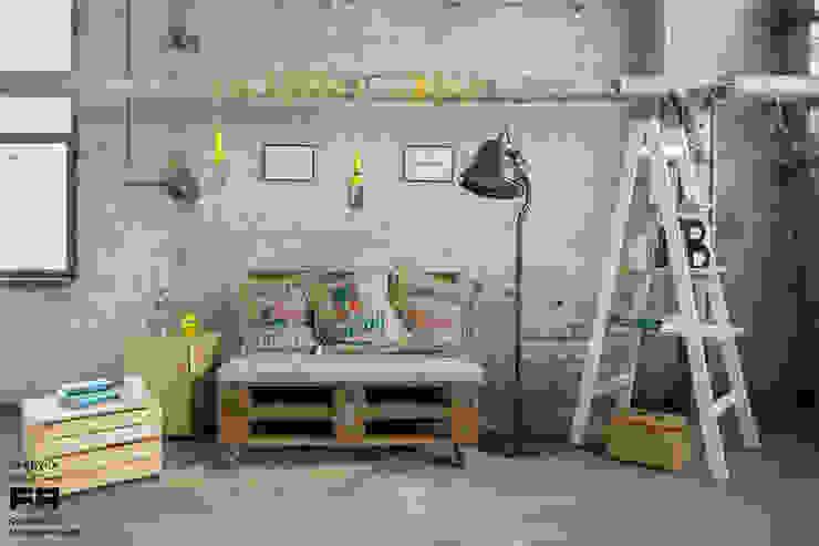 Scandinavian style living room by Fabryka Palet Scandinavian
